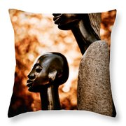 Mother And Son Throw Pillow by Venetta Archer