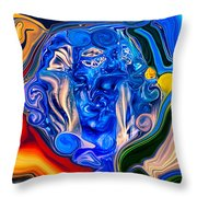 Mother Earth Throw Pillow by Omaste Witkowski