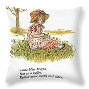 Mother Goose, 1881 Throw Pillow by Granger