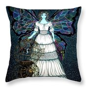 Mother Nature And  Human Throw Pillow by Donatella Muggianu