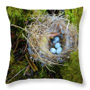 Mother Of Four Throw Pillow by Laura Brightwood