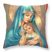 Mother Of God Throw Pillow by Zorina Baldescu
