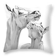 Motherhood Throw Pillow by Angel  Tarantella