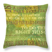 Motherhood Throw Pillow by Debbie DeWitt