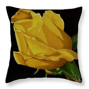 Mother's Yellow Rose Throw Pillow by Cory Still