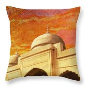 Moti Masjid Throw Pillow by Catf