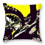 Motocross Throw Pillow by Chris Butler