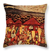 Mount Kilimanjaro Throw Pillow by Eamonn Hogan