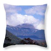 Mount Washington Throw Pillow by Skip Willits