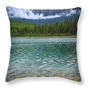 Mountain Lake Throw Pillow by Elena Elisseeva