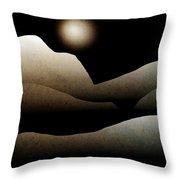 Mountain Moonlight Landscape Art Throw Pillow by Christina Rollo