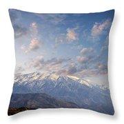 Mountain Top Throw Pillow by Athala Carole Bruckner