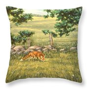 Mouse Patrol Throw Pillow by Richard De Wolfe