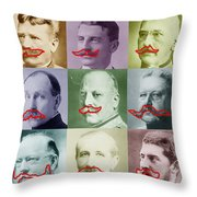 Moustaches Throw Pillow by Tony Rubino