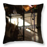 Movie Light Throw Pillow by Micah May