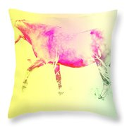 moving spirit Throw Pillow by Hilde Widerberg
