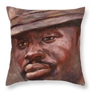 Mr Cool Hat Throw Pillow by Xueling Zou