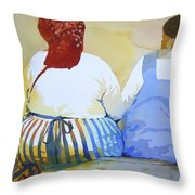 Muchachas Throw Pillow by Kris Parins