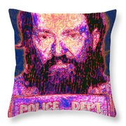 Mugshot Willie Nelson Painterly 20130328 Throw Pillow by Wingsdomain Art and Photography
