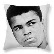 Muhammad Ali 1967 Throw Pillow by Mountain Dreams