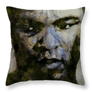 Muhammad Ali  A Change Is Gonna Come Throw Pillow by Paul Lovering