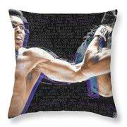 Muhammad Ali Throw Pillow by Tony Rubino