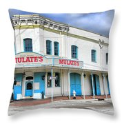 Mulates New Orleans Throw Pillow by Olivier Le Queinec