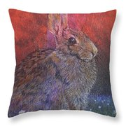 Munching On Clover Throw Pillow by Sari Sauls