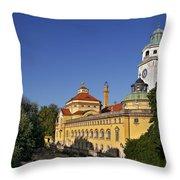 Munich - Mueller'sches Volksbad - Au-haidhausen Throw Pillow by Christine Till