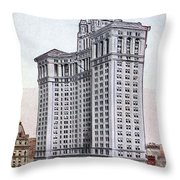 Municipal Building Throw Pillow by Granger