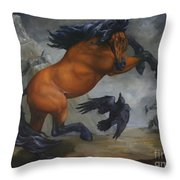 Murder Of Crows Throw Pillow by Lisa Phillips Owens