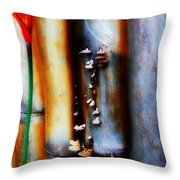 Mushroom On Bamboo 2 Throw Pillow by Lyle Barker