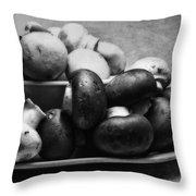 Mushroom Still Life Throw Pillow by Tom Mc Nemar