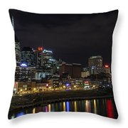 Music And Lights Throw Pillow by CJ Schmit