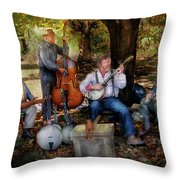 Music Band - The bands back together again  Throw Pillow by Mike Savad