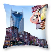 Music City Usa Throw Pillow by Brian Jannsen