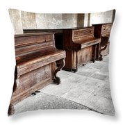 Music Row Throw Pillow by Olivier Le Queinec