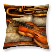 Music - Violin - Played It's Last Song  Throw Pillow by Mike Savad