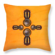 Musical Cross Throw Pillow by Doron Mafdoos