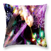Musical Lights Throw Pillow by Mechala  Matthews