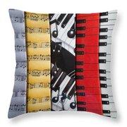 Musical Motifs Throw Pillow by Ann Horn