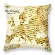 Music's Home Throw Pillow by Gary Grayson