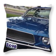 Mustang Classic Throw Pillow by Bobbee Rickard