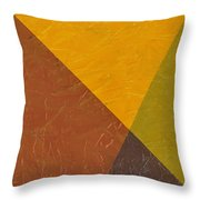 Mustard And Pickle Throw Pillow by Michelle Calkins