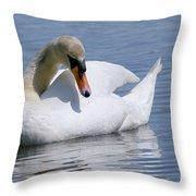 Mute Swan 1 Throw Pillow by Sharon  Talson