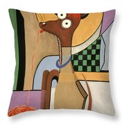 My Apple Head Chihuahua Throw Pillow by Anthony Falbo