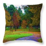 My Autumn Throw Pillow by Heidi Smith