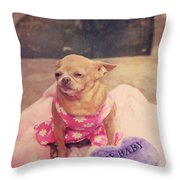 My Baby Throw Pillow by Laurie Search