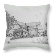 My Barn Throw Pillow by Gigi Dequanne