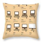 My Evolution Apple mac minimal poster Throw Pillow by Chungkong Art